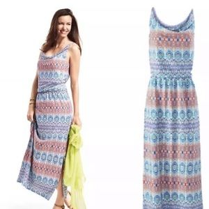 CAbi 317 Aztec Maxi Dress Adjustable Straps Med